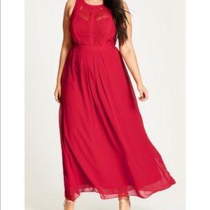 Panelled Bodice Maxi Dress (City Chic)